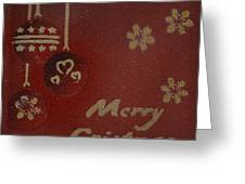 Red Ornaments Greeting Card