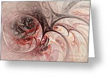 Red Passion - Abstract Art Greeting Card