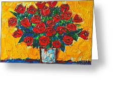Red Passion Roses Greeting Card by Ana Maria Edulescu
