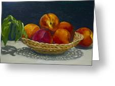 Red Peaches Greeting Card