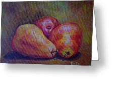 Red Pears Five Greeting Card