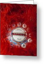 Red Phone For Emergencies Greeting Card