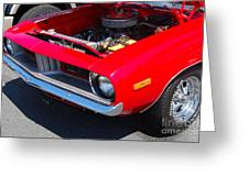 Red Plymouth Barracuda Greeting Card