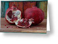 Red Pomegranate Greeting Card