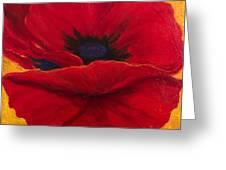 Red Poppi II Greeting Card