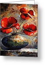 Red Poppies 02 Greeting Card