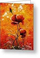 Red Poppies 023 Greeting Card