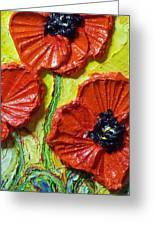 Red Poppies II Greeting Card