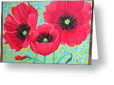 Red Poppis Greeting Card