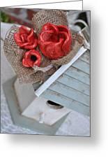 Red Poppy Inn Greeting Card by Amanda  Sanford