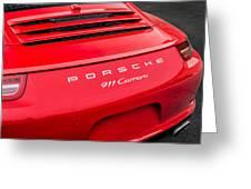 Red Porsche 911 Detail E183 Greeting Card