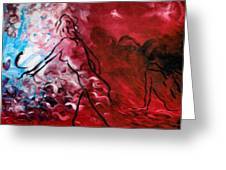 Red Psychological State Greeting Card