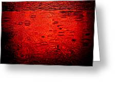 Red Rain Greeting Card by Dave Bowman