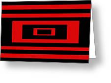 Red Rectangle Greeting Card