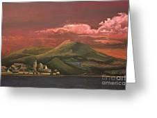 Red Rhine Greeting Card