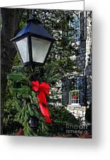 Red Ribbon Christmas Greeting Card