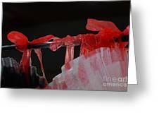 Red Ribbons Greeting Card