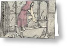 Red Riding Hood-one Month Later Greeting Card