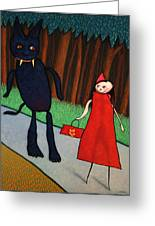 Red Ridinghood Greeting Card by James W Johnson