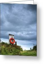 Red Ring Life Preserver Hanging Greeting Card