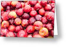 Red Ripe Plums Greeting Card