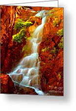 Red River Falls  Greeting Card