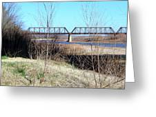 Red River I 35 Train Trussell Greeting Card