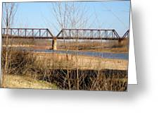 Red River Train Trussell Greeting Card