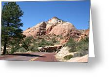 Red Road Zion Park Greeting Card