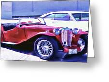 Red Roadster Greeting Card