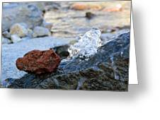 Red Rock And Crystal Water Greeting Card