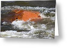 Red Rock And Water Splash Greeting Card