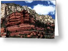 Red Rock At Oak Creek Greeting Card