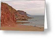 Red Rock By Sea Of Cortez From San Carlos-sonora Greeting Card