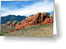 Red Rock Canyon Greeting Card by Andrea Dale