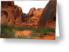 Red Rock Canyon. Greeting Card