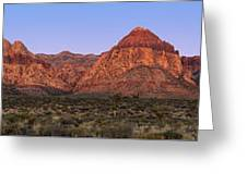 Red Rock Canyon Pano Greeting Card by Jane Rix