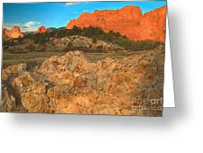 Red Rock Caps Greeting Card