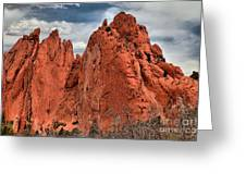Red Rock Cluster Greeting Card