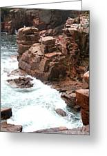 Red Rock Coast Maine Greeting Card