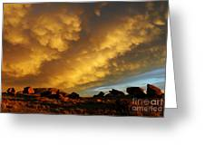 Red Rock Coulee Sunset Greeting Card