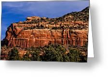 Red Rock Crag Greeting Card