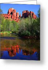 Red Rock Crossing Reflections Greeting Card