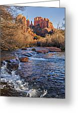 Red Rock Crossing Winter Greeting Card