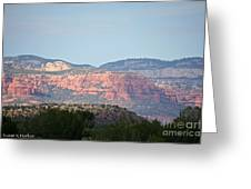 Red Rock Evening Greeting Card