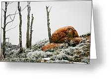 Red Rock Frost - Green Mountain - Wyoming Greeting Card