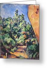 Red Rock Greeting Card by Paul Cezanne