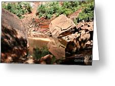 Red Rock Reflection I Greeting Card