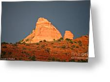 Red Rock Rising Greeting Card