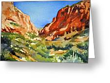 Red Rock Summer Greeting Card